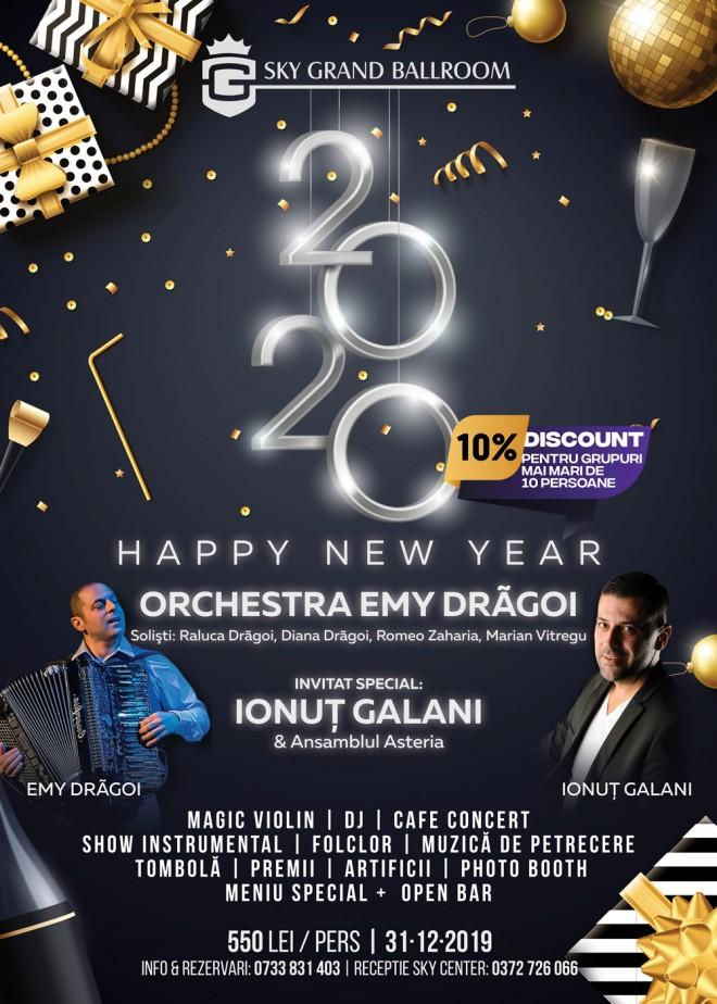 Toate planurile de revelion duc la Sky Grand Ballroom: vă așteaptă un spectacol de zile mari, muzică live și o atmosferă electrizantă!