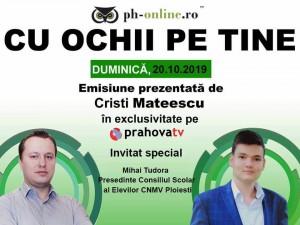 """Mihai Tudora, invitat in emisiunea """"Cu ochii pe tine"""", astazi, pe Prahova TV"""