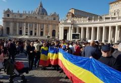 Mircea Cosma a sarbatorit Ziua Nationala in Diaspora, alaturi de romanii din Italia. Drapelul Romaniei, intins la Vatican