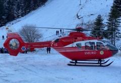 Accident grav pe pârtie, la Sinaia! Un copil de 10 ani a fost preluat de elicopterul Smurd