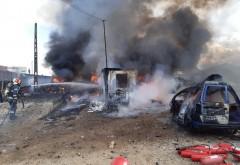 Incendiu VIOLENT in Pleasa. Locuitorii comunei Bucov, avertizati prin RO-ALERT
