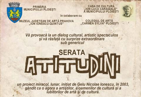 """Pastila de cultura. Serata """"Atitudini"""" are loc pe 25 februarie, la Muzeul Județean de Artă Prahova"""