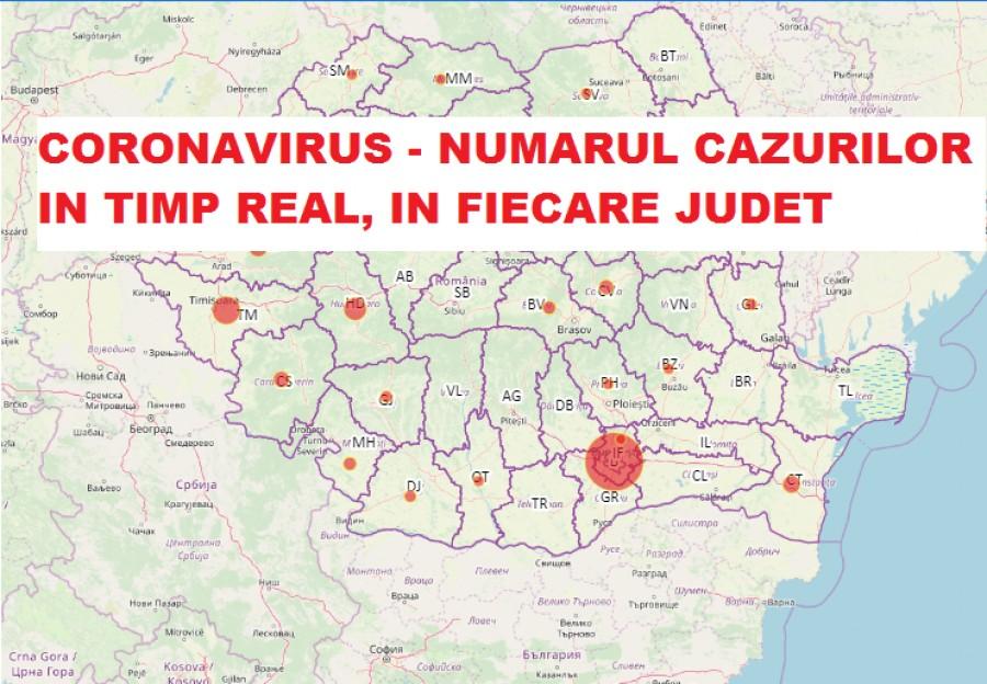 Harta In Timp Real Coronavirus In Romania Situația Din Fiecare