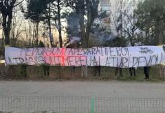 Mesaj de susținere pentru medicii prahoveni, din partea suporterilor Petrolului Ploiești