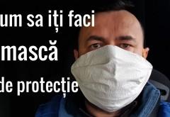 Cum să-ți faci singur mască acasă. In Prahova, purtarea mastii va fi OBLIGATORIE din 10 aprilie