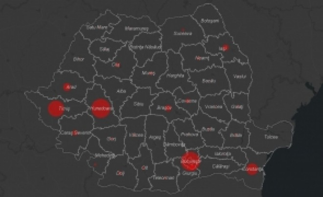 DOCUMENT România infectată de COVID-19, pe județe. Creștere a numarului de cazuri in Prahova