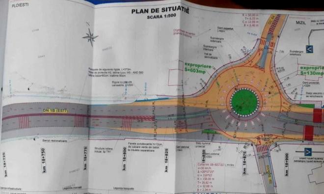 Un nou sens giratoriu va fi amenajat pe DN1B, la Valea Calugareasca