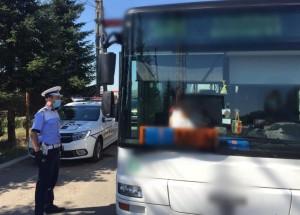Mijloacele de transport în comun verificate de polițiști, în contextul pandemiei COVID-19