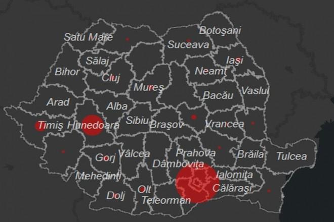 Prahova, județul cu cele mai multe cazuri de COVID-19 raportate în ultimele 24 ore