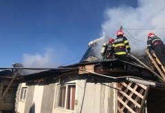Incendiu violent in Puchenii Mari. O casa a fost cuprinsa de flacari
