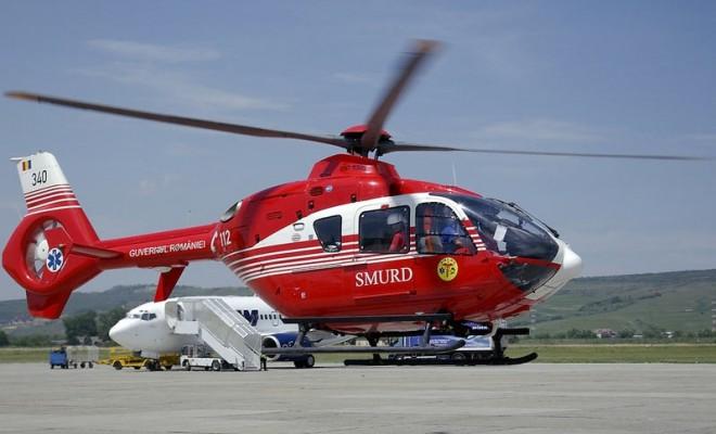 ALERTA, intervine elicopterul SMURD! Un barbat si-a prins mana intr-un zdrobitor de struguri si a ramas fara brat, la o crama din Urlati
