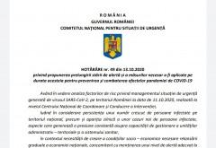 DOCUMENT. Hotărârea prin care Guvernul prelungește starea de alertă de la 15 octombrie. Ce măsuri trebuie respectate