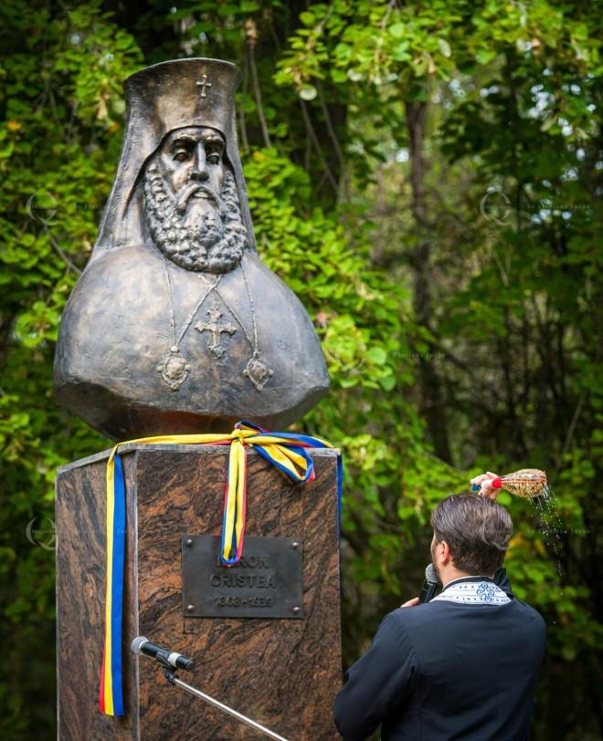 Bustul primului Patriarh al Bisericii Ortodoxe Române, Miron Cristea, a fost inaugurat, astăzi, pe Aleea Făuritorilor Unirii din parcul Bucov