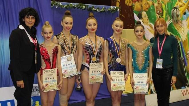 FELICITARI fetelor si antrenorilor! Gimnastele de la CSM Ploieşti, vicecampioane naţionale de senioare în concursul pe echipe