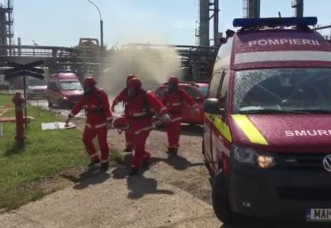 EXPLOZIE la rafinaria Lukoil din Ploiesti /Exercitiu ISU Prahova