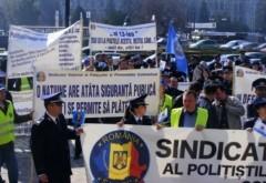 Ziua Poliției Române. Angajații din MAI o celebrează cu proteste în stradă