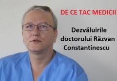 """De ce tac medicii din România? Dr. Răzvan Constantinescu ne dezvăluie realitatea sinistră din interiorul sistemului medical: """"Stim ca luam salariu degeaba, saloanele sunt goale, pacientii fara COVID nu mai au... loc"""""""