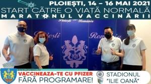 """Maraton de vaccinare la Ploiesti, pe stadionul """"Ilie Oana"""". De vineri pana duminica, non-stop!"""
