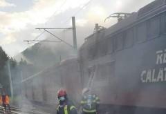 Panica intr-un tren de catori, pe ruta Brasov-Bucuresti. Locomotiva a luat foc, in apropierea garii Sinaia