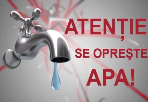 Se opreste apa potabila in Azuga si Busteni, luni, 17 mai