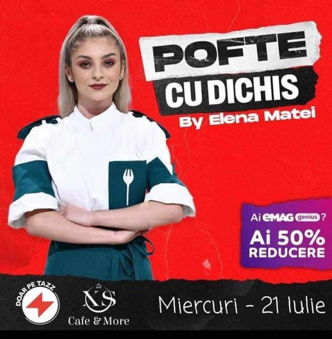 XS Cafe Ploiesti/ Chef Elena Matei (finalista Chefi la cutite) a pregatit doua preparate delicioase ce pot fi comandate prin Tazz