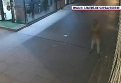 """Cum a spart """"Van Damme"""" cu o sapă geamurile magazinelor din Câmpina. Trecătorii se uită, dar nu au curaj să-l oprească"""
