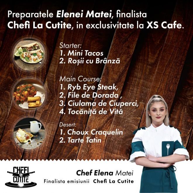 """XS Cafe Ploiesti/ Elena Matei (""""Chefi la cutite"""") are o surpriza pentru ploiesteni, vineri, 6 august! Despre ce e vorba"""