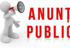Anunţ public privind decizia  etapei de incadrare