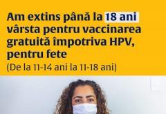 Vaccinarea GRATUITA anti-HPV a fost extinsa pana la 18 ani, doar pentru fete