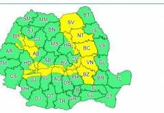 Cod galben de vreme severă pentru nordul județului Prahova