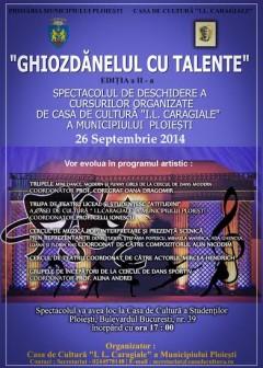 """Spectacolul """"Ghiozdănelul cu talente"""", organizat vineri la Casa de Cultură din Ploieşti"""
