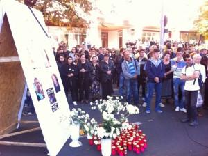 Sute de oameni au PROTESTAT în Câmpina după tragedia rutieră de pe DN1