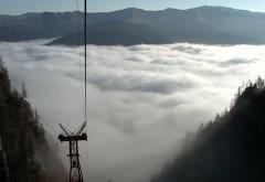 """""""Marea de nori"""". Fenomenul SPECTACULOS apărut în Masivul Bucegi FOTO"""