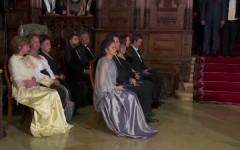 Ceremonii la Castelul Peleş: Draga Olteanu, Tamara Buciuceanu, Sofia Vicoveanca şi Maria Ciobanu, decorate de Casa Regală