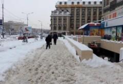 32 de societăţi comerciale, avertizate de Poliţia Locală pentru că nu au îndepărtat zăpada