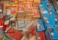 Mii de produse pirotehnice, confiscate în Prahova