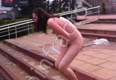 INCREDIBIL! Femeie DEZBRĂCATĂ în centrul Ploieştiului FOTO VIDEO