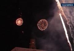 Ce oras din tara a avut cele mai frumoase focuri de artificii in noaptea de Anul Nou. VIDEO