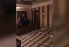 La un pas de tragedie! O familie de ploiesteni a trait clipe de groaza dupa ce TAVANUL unui hotel s-a prabusit!