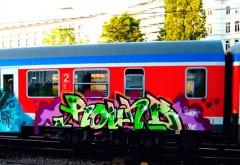 Desenatori de graffiti, prinşi în Gara de Sud în timp ce colorau trenurile