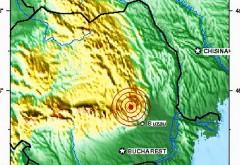 CUTREMUR cu magnitudine 4.2, sâmbătă seara, în România