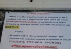 ESCROCHERIE in numele Apa Nova Ploiesti. ATENTIE la afisele lipite pe usa blocului!