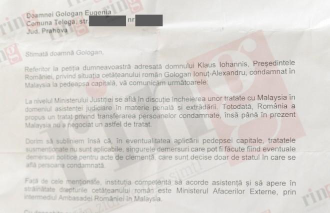 Iohannis refuza... cu dimplomatie sa-l ajute pe tanarul din Prahova condamnat la moarte in Malaysia