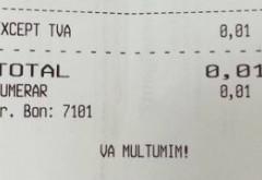 Efectele furiei antifraudă: Bon fiscal pentru bacșiș de 0,01 lei