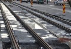 Intersecţie din centrul Ploieştiului, BLOCATĂ din cauza lucrărilor la liniile de tramvai
