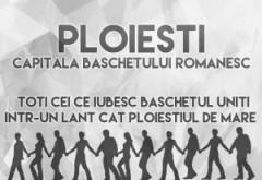 Lanț uman al iubitorilor de baschet pe Bulevardul Castanilor din Ploiești