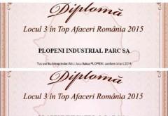 Plopeni Industrial Parc a obţinut LOCUL 3 în Topul Afacerilor din România