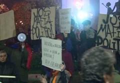 A cincea zi de PROTESTE în Piaţa Universităţii din Capitală. VIDEO - UPDATE