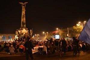 A șasea seară de proteste la Ploiești. 1.000 de oameni au mărșăluit duminică în oraș