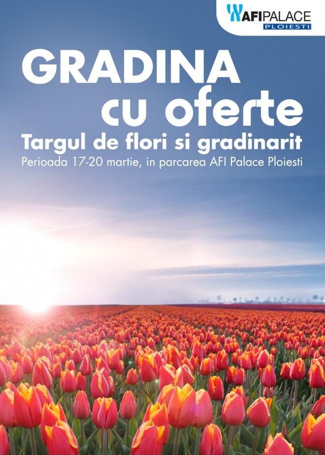 """Targul de flori """"Gradina cu oferte"""", gazduit de Afi Palace Ploieşti"""